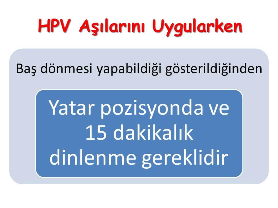 HPV Aşılarını Uygularken